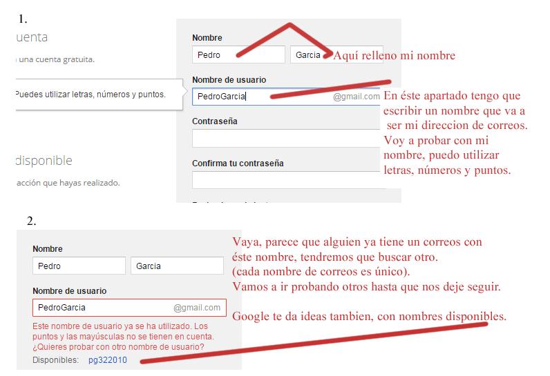 1 Pasos para crear cuenta gmail