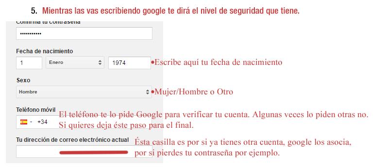 3 Pasos para crear cuenta gmail