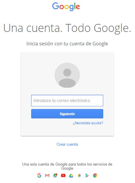 Acceder a cuenta Google 1