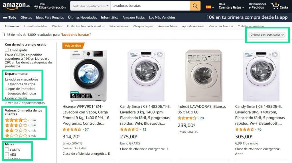 Elegir un producto en Amazon2
