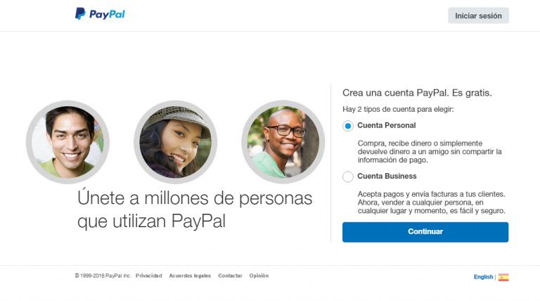 Paypal web page 2
