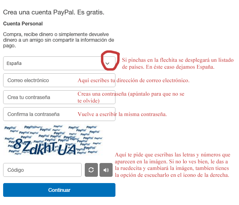 Paypal web page 3