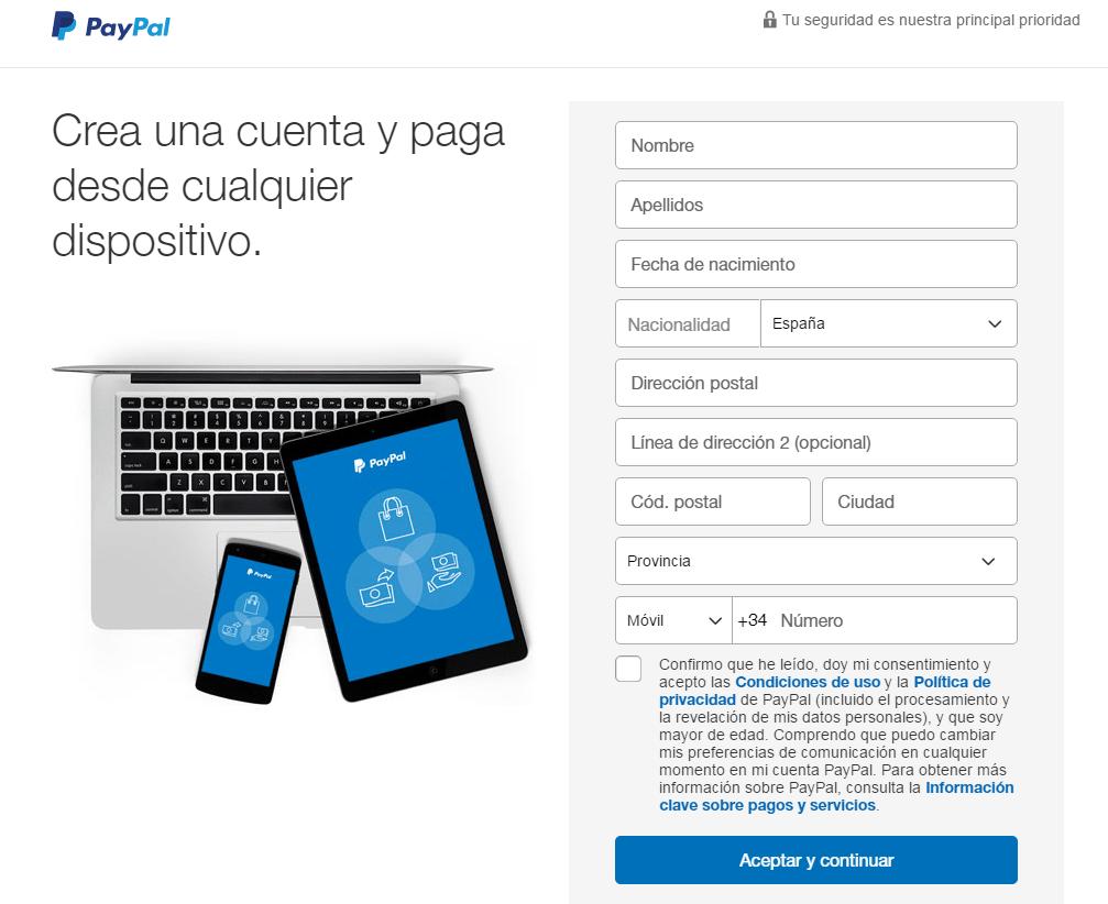 Paypal web page 4