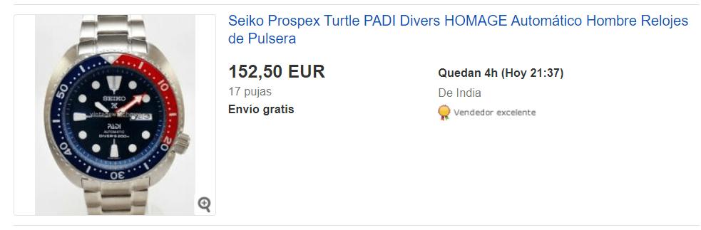 ejemplo de ebay subasta