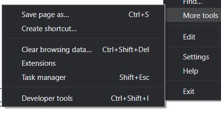 herramientas google chrome