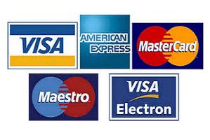 Pagar con tarjeta de crédito o débito