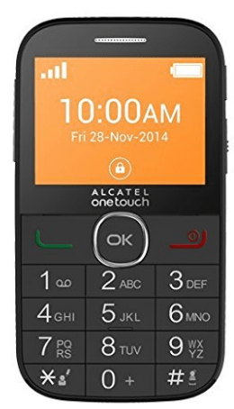 Mejores móviles para mayores Alcatel onetouch