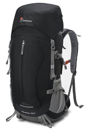 Mountaintop Mochila de Senderismo 50L Para Deporte Aire Libre del Viaje de Acampa con Cubierta de Lluvia