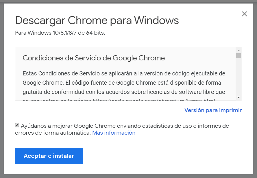 chrome para windows