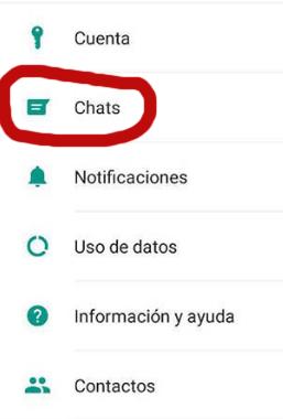 menu chats