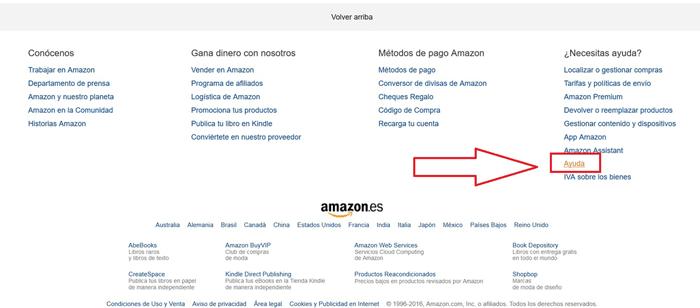 Amazon Ayuda Paso 5