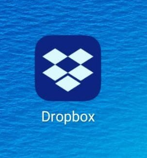 Icono movil de dropbox