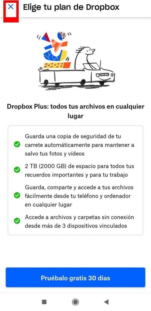 Dropbox gratis en el movil