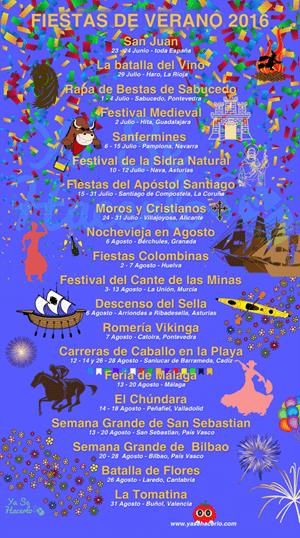 Infografía de Fiestas de Verano 2016 España