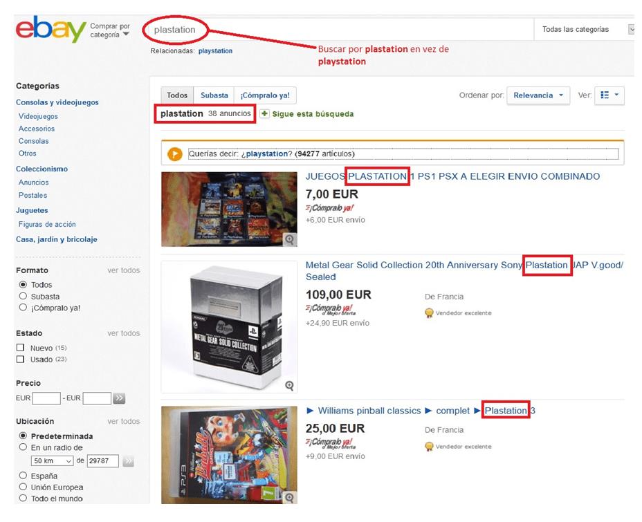 Ebay España trucos
