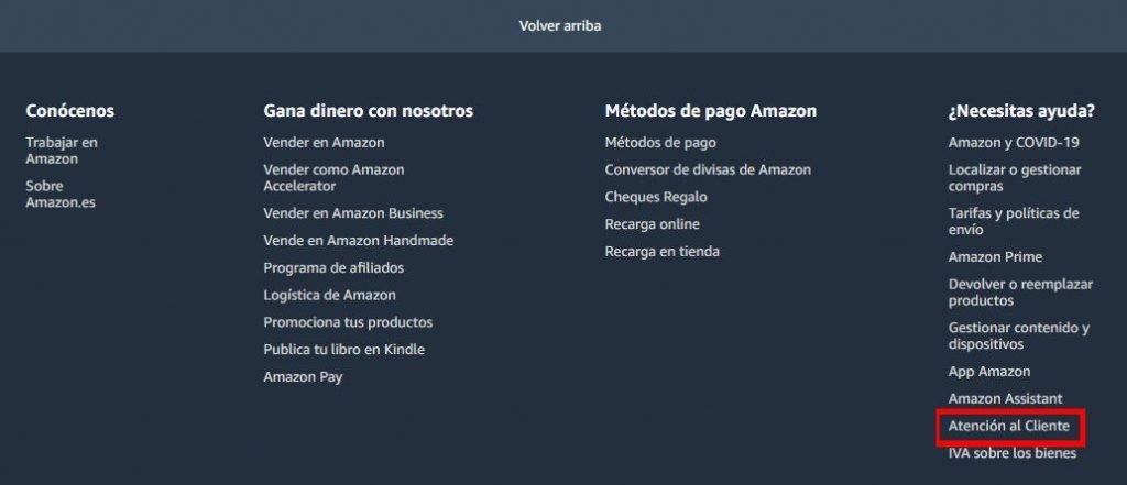 Amazon atención al cliente