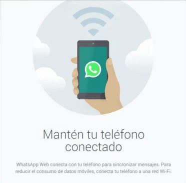 manten tu telefono conectado
