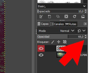 Crear opacidad GIMP