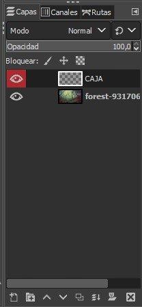 Crear una capa en GIMP