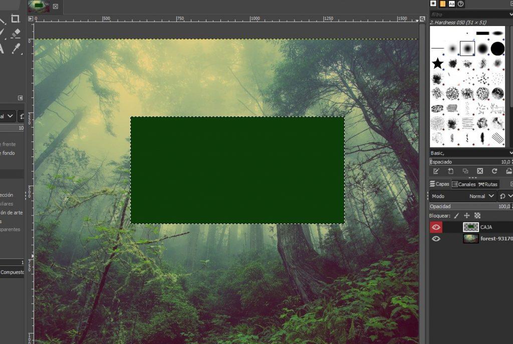 rellenar en GIMP