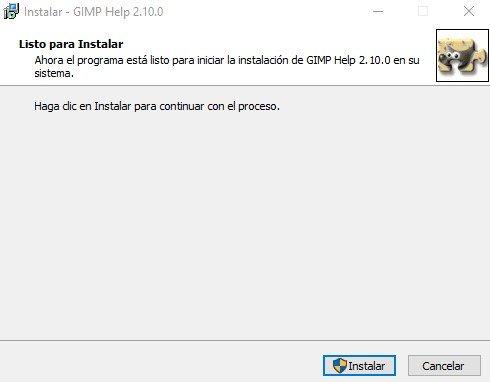 Instalar GIMP en español