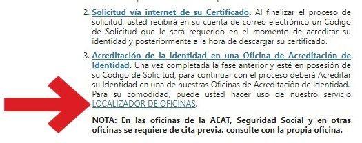 oficinas de registro para certificados