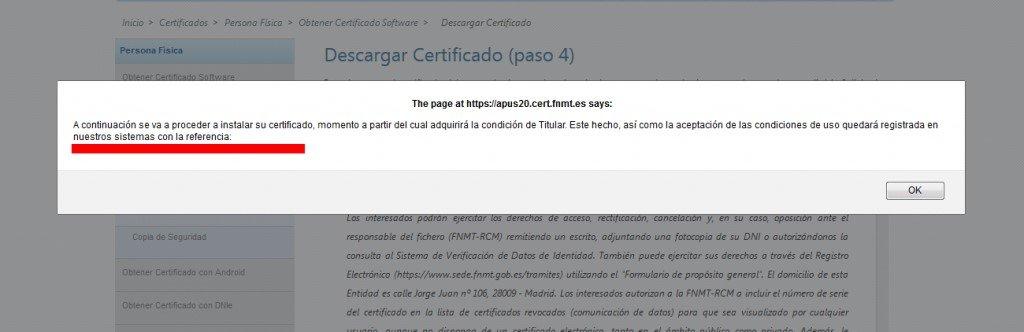 descargar certificado en PC