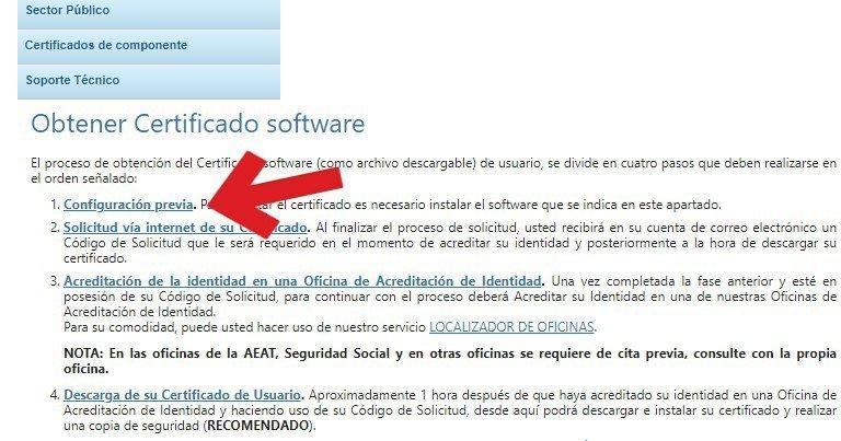 configuración de certificado digital