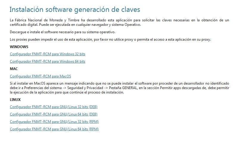 Instalación software certificado digital