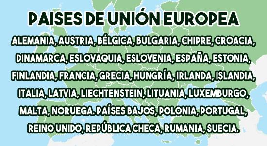 Países de unión europea