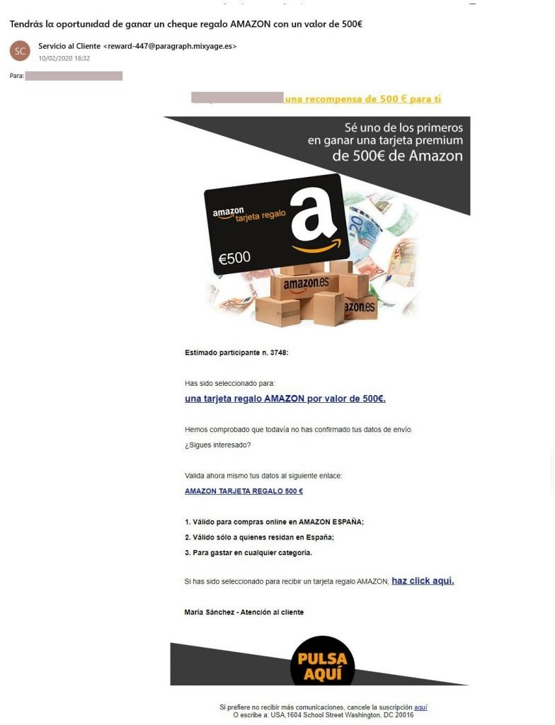 Amazon timo email