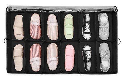 Organizador de zapatos cama