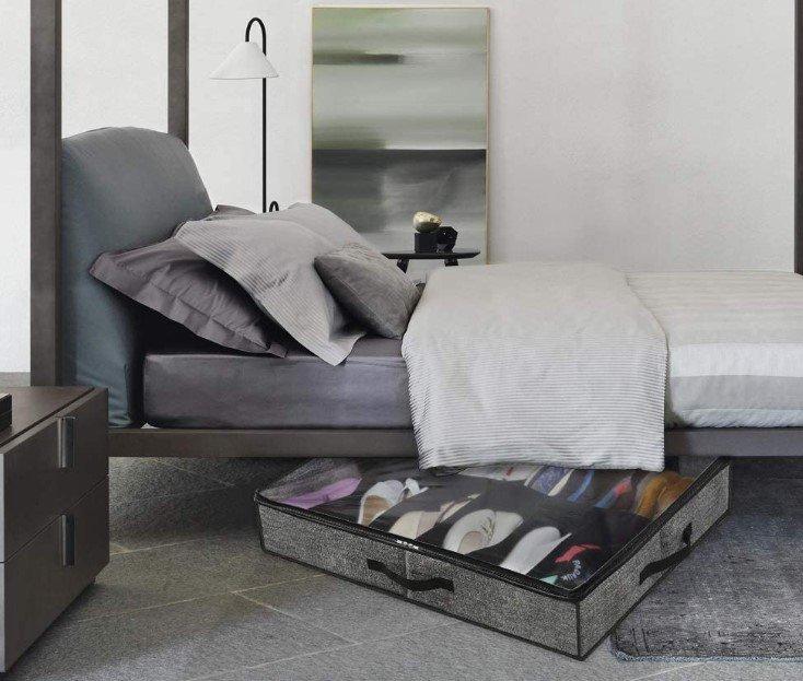 Organizador zapatos cama