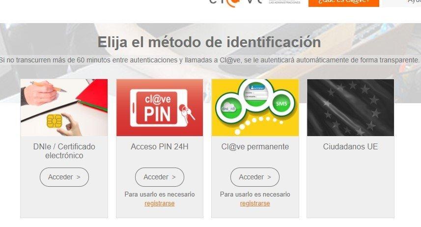 método de identificación de cl@ve PIN