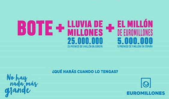 Lluvia de millones euromillones