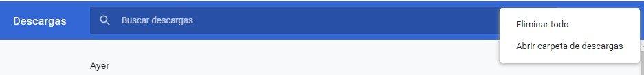 Opciones de Descargas Google chrome