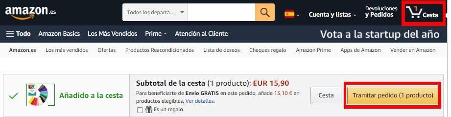 Como comprar en Amazon - Pagar en Amazon