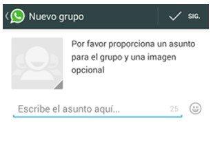 configurar whatsapp en tu movil crear un nuevo grupo