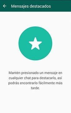 whatsapp en tu movil mensajes destacados